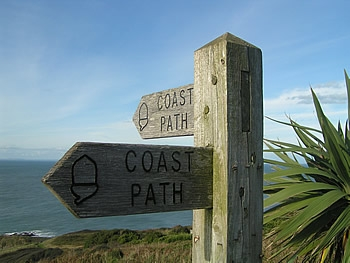 Coast path in the parish of Berrynarbor