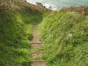 The coast path is steep in places!