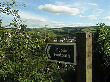 Public footpath above the village